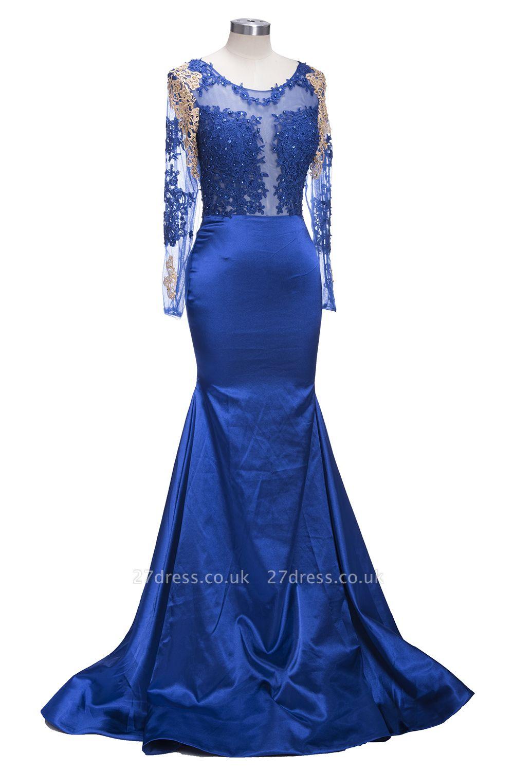 Long sleeve prom Dress UK, mermaid evening gowns