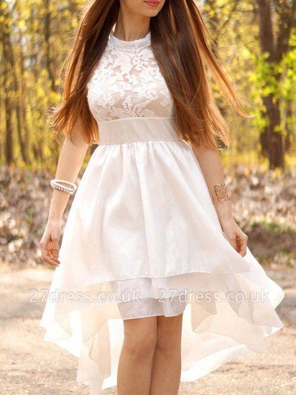 Sleeveless Ruched Halter  Asymmetrical A-Line Wedding Dresses UK