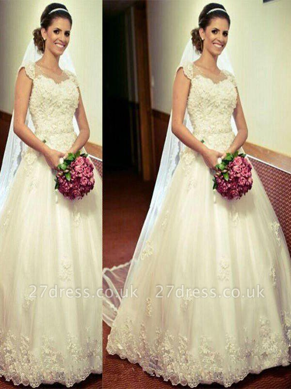 Tulle Cheap Ball Gown Sweetheart Floor-Length Sleeveless Wedding Dresses UK