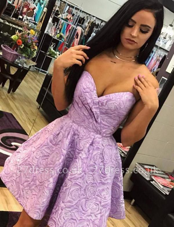 Different Hot A-Line Cute Sweetheart Sleeveless Short Prom Homecoming Dress UK