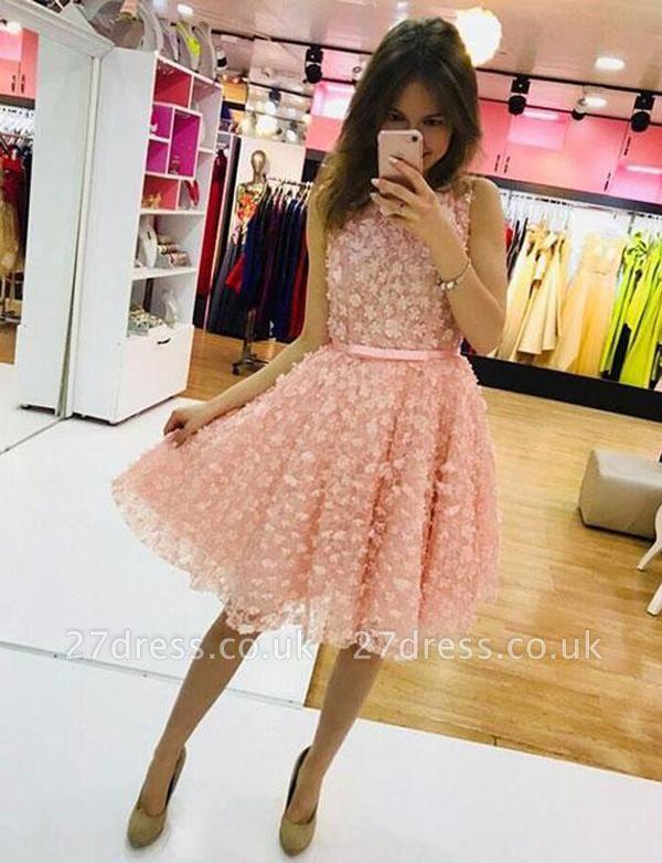 Simple A-Line Appliques Jewel Sleeveless Mini length Homecoming Dress UK