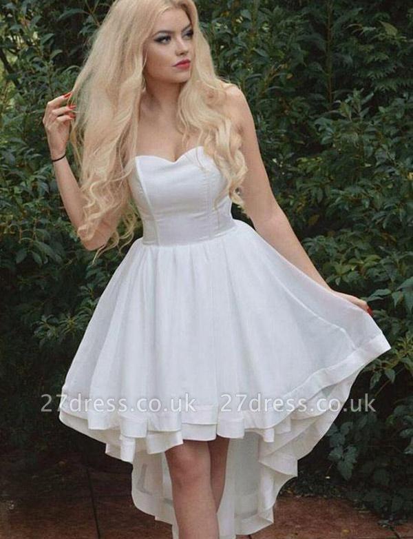 Sexy Sweetheart A-Line Sleeveless asymmetric Prom Dress UK UK