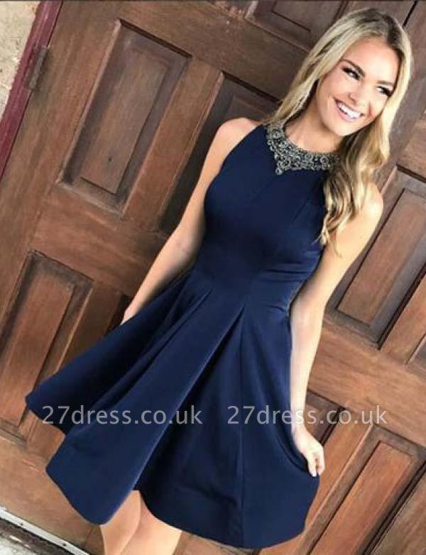 Stunning A-Line Beading Sleeveless Jewel Mini Prom Dress UK UK