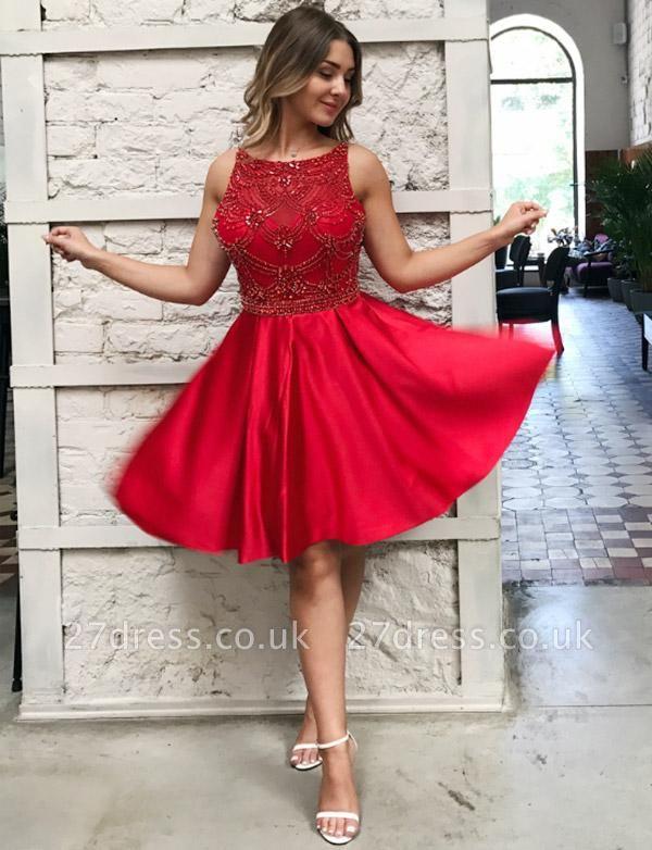 Stunning Lace A-Line Beads Bateau Sleeveless Prom Dress UK UK