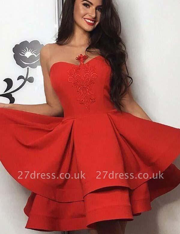 Stunning Cute Sweetheart A-Line Appliques Sleeveless Mini length Prom Dress UK UK