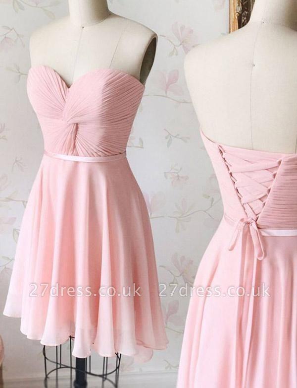 Luxury A-Line Lace Sweetheart Lace-up Short length Prom Dress UK UK