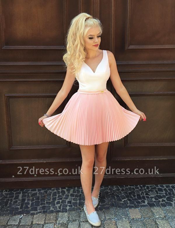 Fabulous A-Line V-Neck Sleeveless Straps Short length Prom Dress UK UK