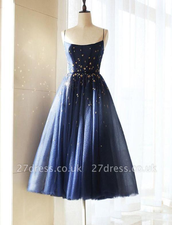 Charming A-Line Tulle Spaghetti Straps Short length Prom Dress UK UK