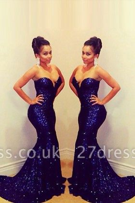 Elegant Sequins Sweetheart Mermaid Prom Dress UK