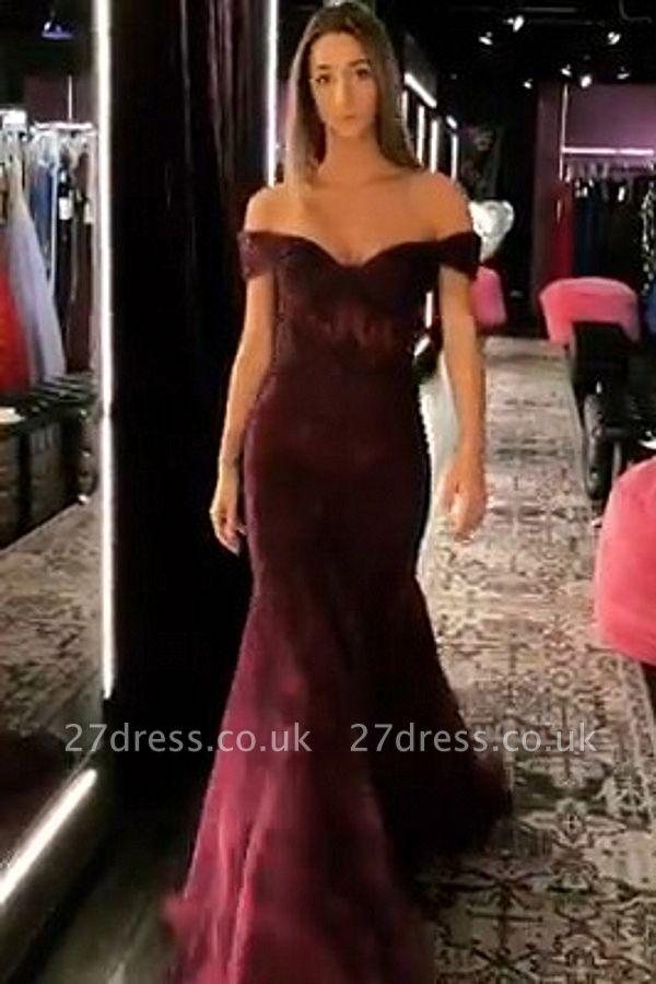 Elegant Trumpt Off-the-Shoulder StraplessLong Prom Dress UK