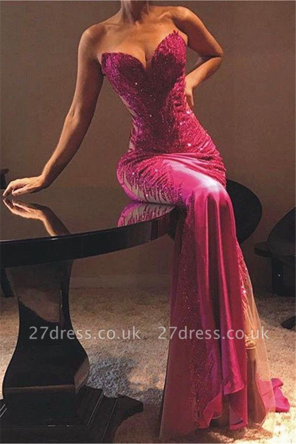 Elegant Column Sweetheart Lace Appliques Sexy Prom Dress UKes UK UK