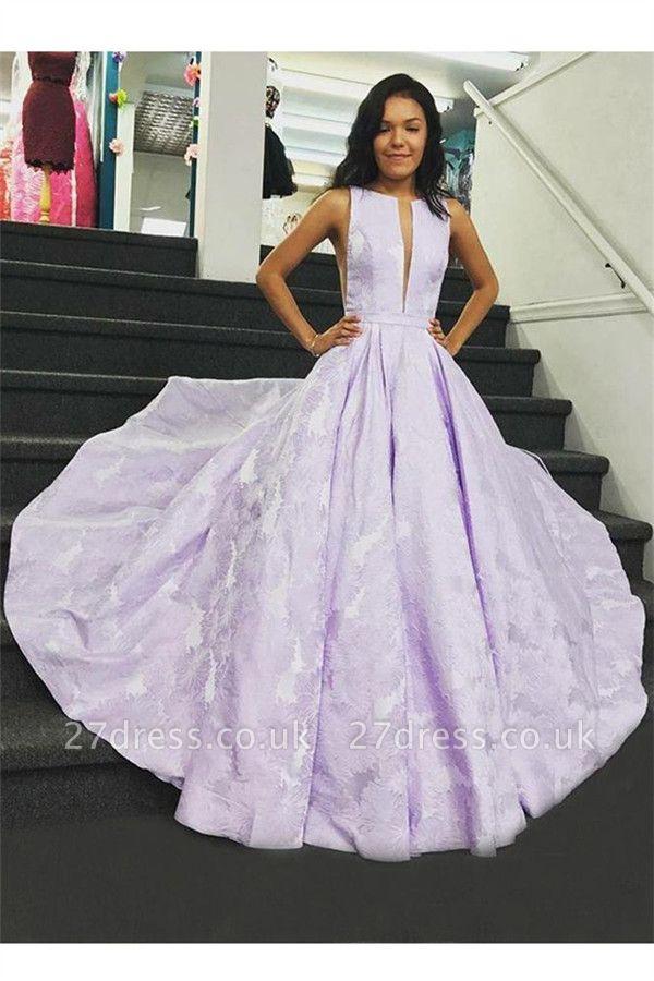 Sexy Lace Jewel Prom Dress UKes UK Ruffles Keyhole Sleeveless Evening Dress UKes UK