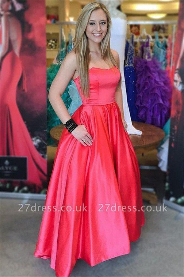 Sexy Red Sweetheart Prom Dress UKes UK Popular Elegant Evening Dress UKes UK with Pocket