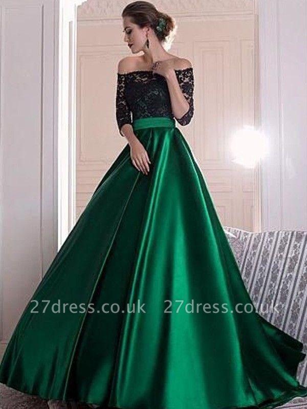 Sexy Black Lace Long Sleeves Prom Dress UKes UK Bateau Elegant Evening Dress UKes UK Sexy