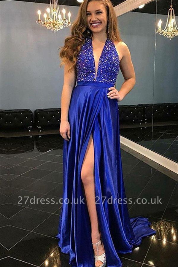 Sexy Sequins Off-the-Shoulder Prom Dress UKes UK Ruffles Sleeveless Mermaid Elegant Evening Dress UKes UK