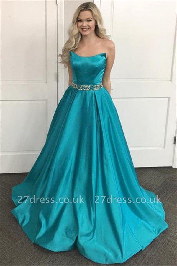 Lace Appliques Sequin Strapless Prom Dress UKes UK Sleeveless Evening Dress UKes UK Sexy
