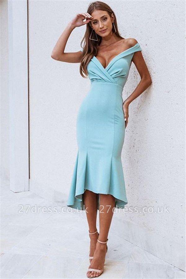 Amazing Off-The-Shoulder without Sleeve Elegant Mermaid Prom Dress UK UK