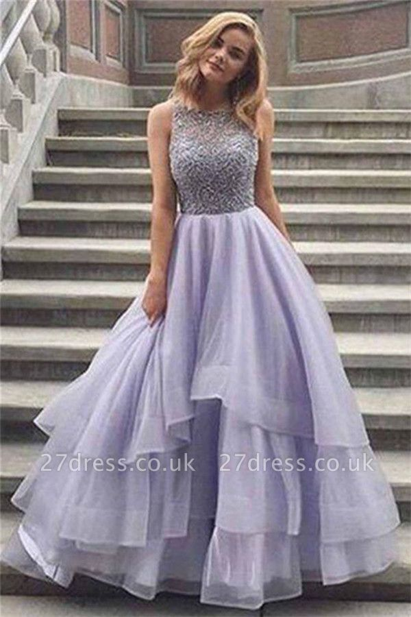 Sexy Crystal Sheer Prom Dress UKes UK Simple Sexy Sleeveless Evening Dress UKes UK