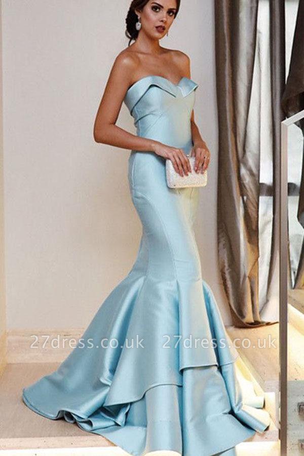 Sequin Ruffle Sweetheart Prom Dress UKes UK Sexy Mermaid Sleeveless Evening Dress UKes UK