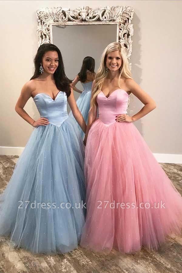 Sexy Sweetheart Sheer Prom Dress UKes UK Sleeveless Evening Dress UKes UK with Beads