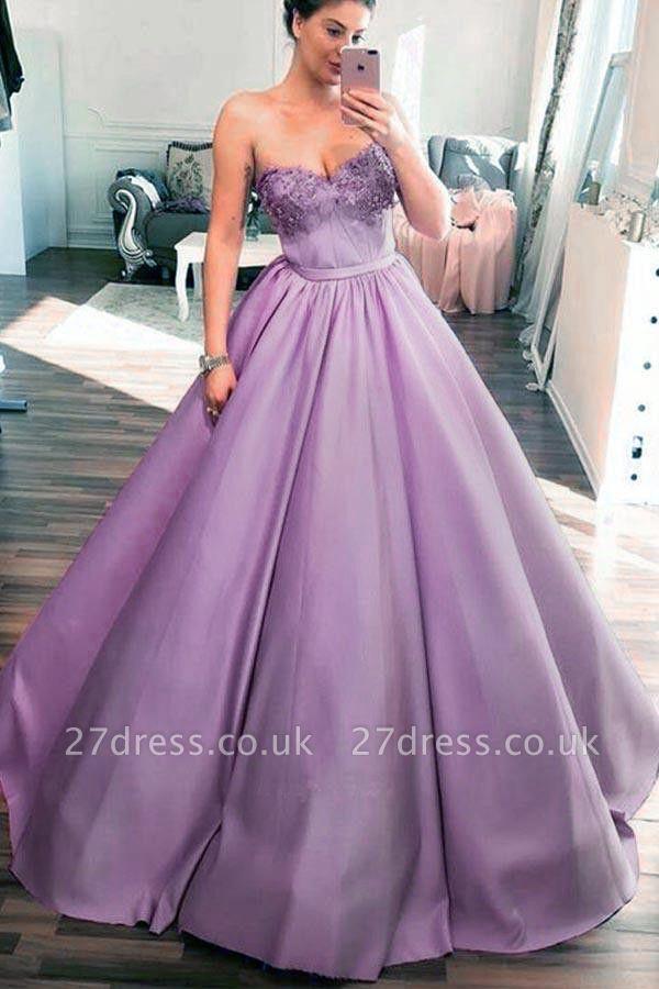 Sexy Sweetheart Lace Appliques Prom Dress UKes UK Sexy Ribbon Sleeveless Evening Dress UKes UK