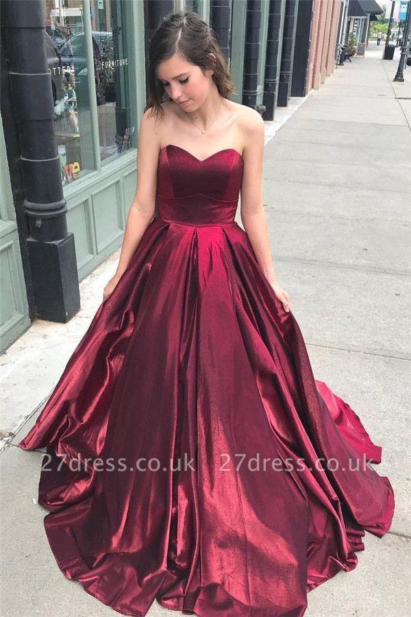 Thick Stain Sweetheart Prom Dress UKes UK Ruffle Sexy Sleeveless Evening Dress UKes UK