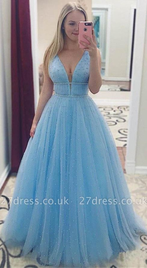 Sexy Sequins Straps Prom Dress UKes UK Sleeveless Evening Dress UKes UK with Beads