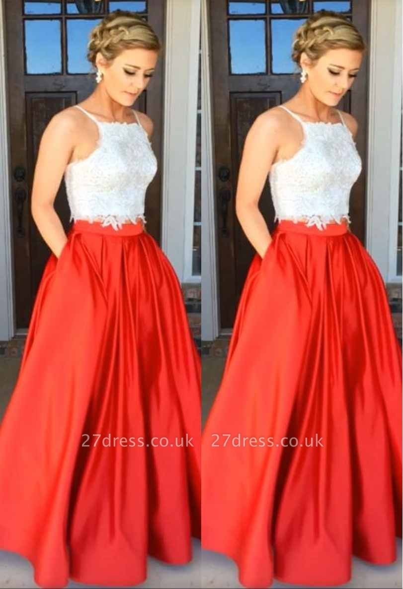 A-Line Gorgeous Two-Piece Lace Prom Dress UK