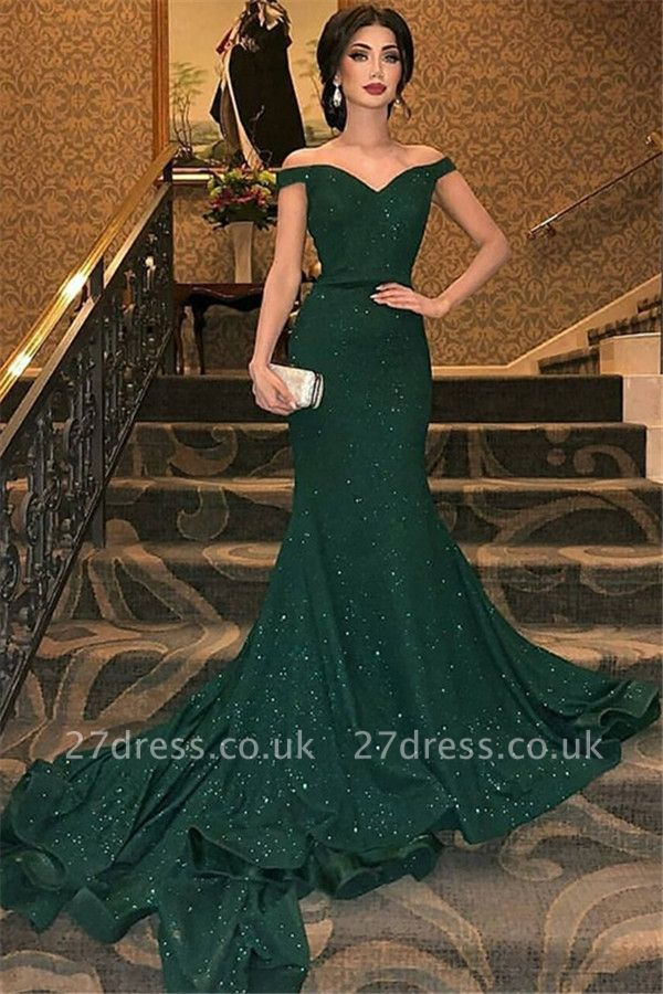 Sexy One-shoulder Applique Prom Dress UKes UK Long Sleeves Side Slit Elegant Evening Dress UKes UK with Sash
