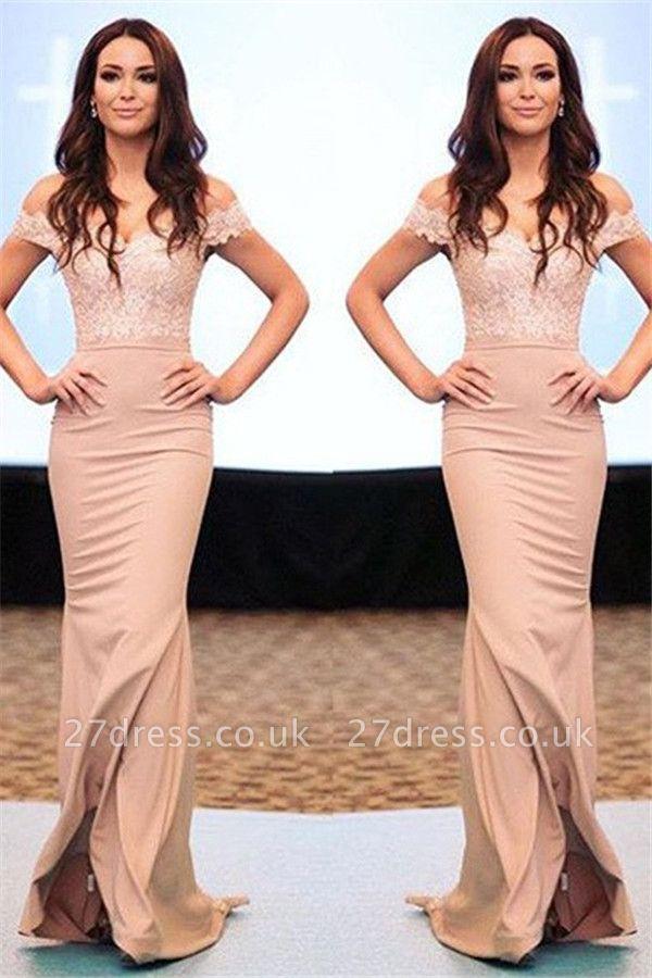 Lace Off-the-Shoulder Prom Dress UKes UK Sexy Mermaid Elegant Evening Dress UKes UK