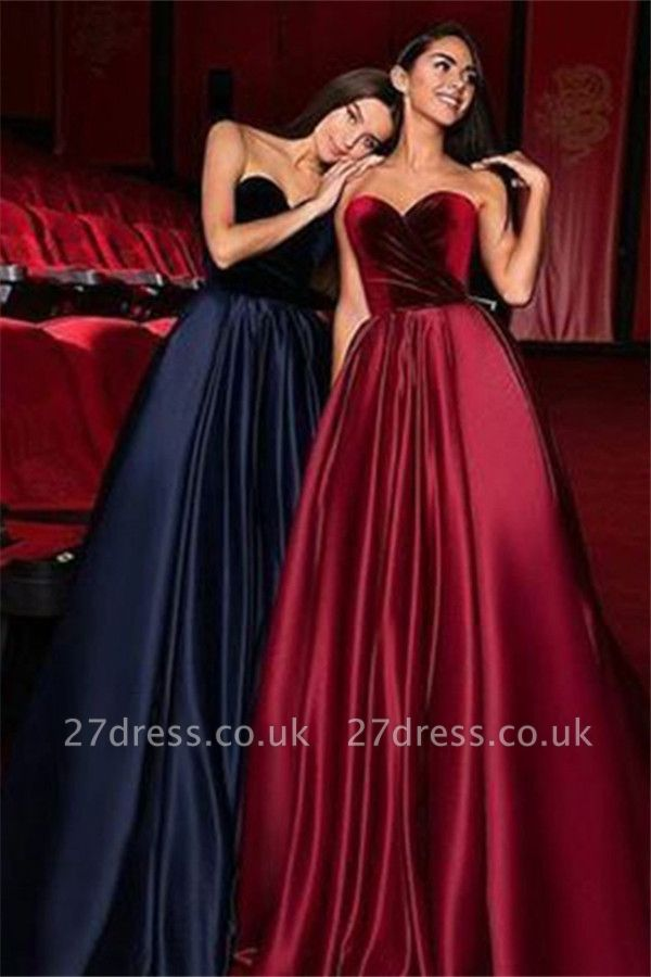 Sexy Sweetheart Ruffles Prom Dress UKes UK Popular Sleeveless Elegant Evening Dress UKes UK Sexy