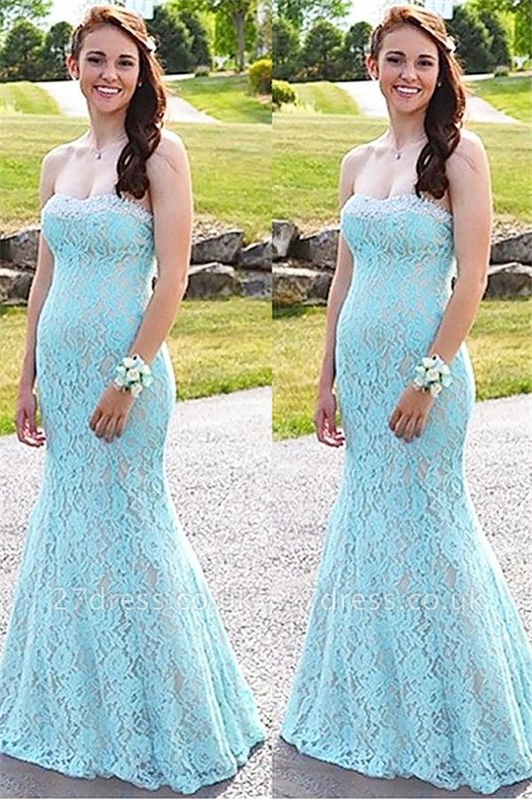 Sexy Sweetheart Lace Crystal Prom Dress UKes UK Sleeveless Mermaid Evening Dress UKes UK Sexy