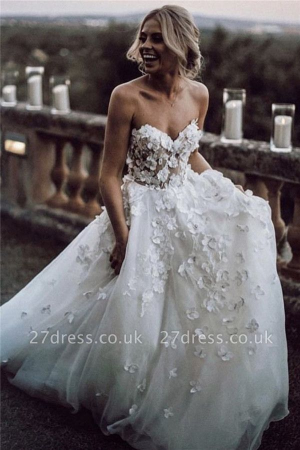 Elegant Jewel Wedding Dresses UK Simple Longsleeves Backless Floral Bridal Gowns