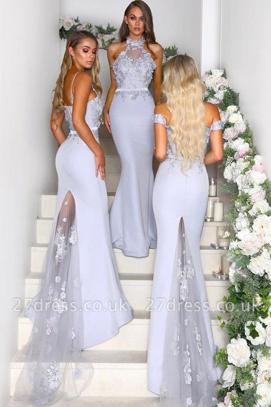 Multi-Style 2019 Bridesmaid Dress UK | Mermaid Lace Maid of Honor Dress UK On Sale
