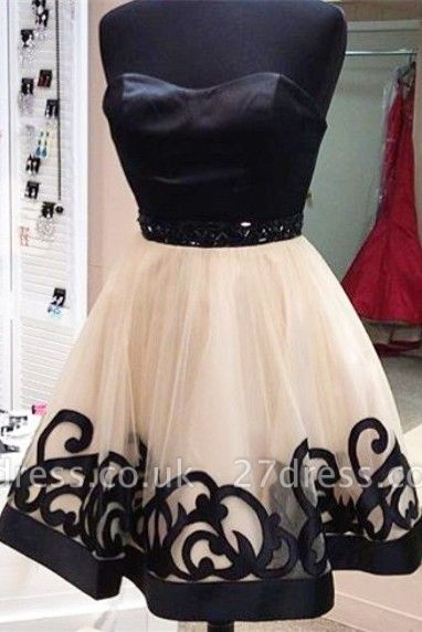 Sexy Sweetheart Short Tulle Homecoming Dress UK With Beadings
