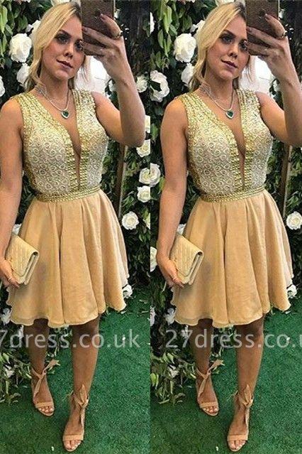 Sexy V-Neck Short Prom Dress UK | Homecoming Dress UK