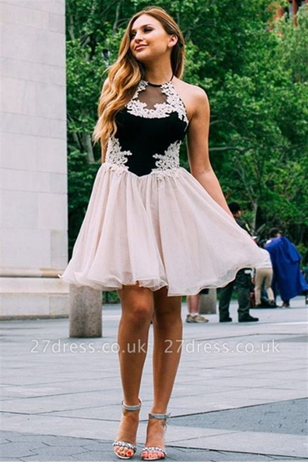Jewel Appliques Sleeveless Mini Homecoming Dress