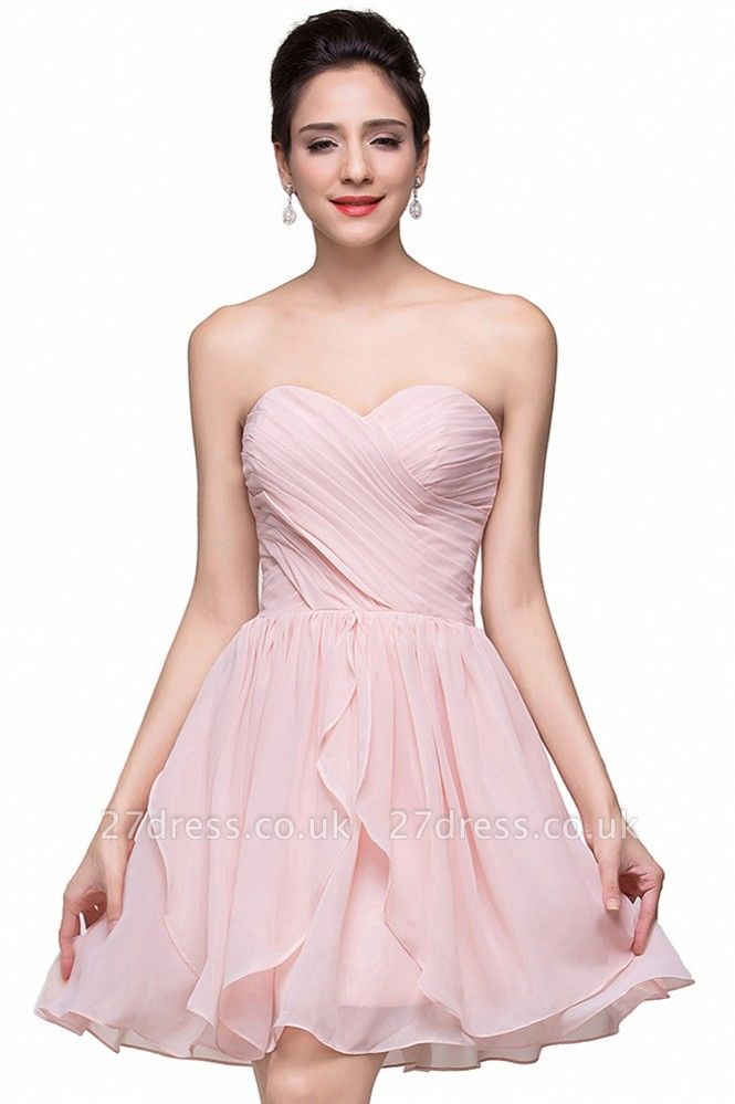 Luxury Sweetheart Short Homecoming Dress UK Chiffon