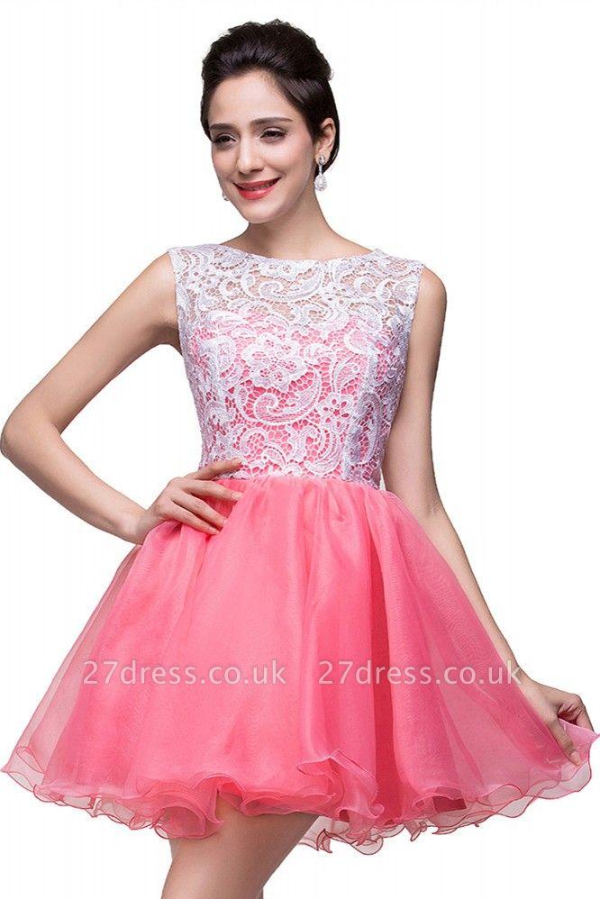 Lovely Sleeveless Lace Homecoming Dress UK Short