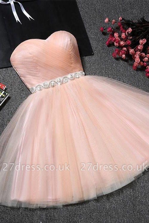 Lovely Sweetheart Prom Dress UK | Tulle Lace-Up Short Homecoming Dress UK