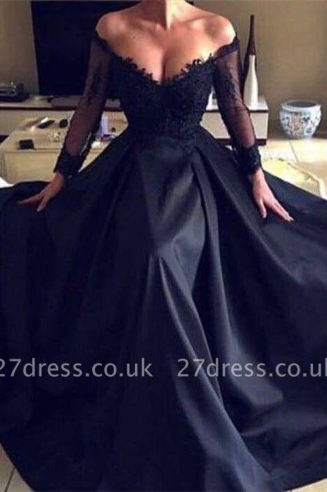 Luxury Long Sleeve Lace Evening Dress UK   2019 Long Formal Wears