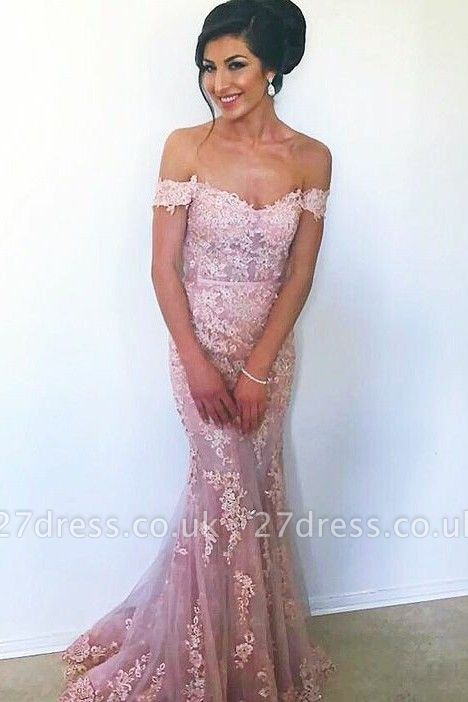 Sexy Off-the-Shoulder Evening Dress UK | Mermaid Prom Dress UK