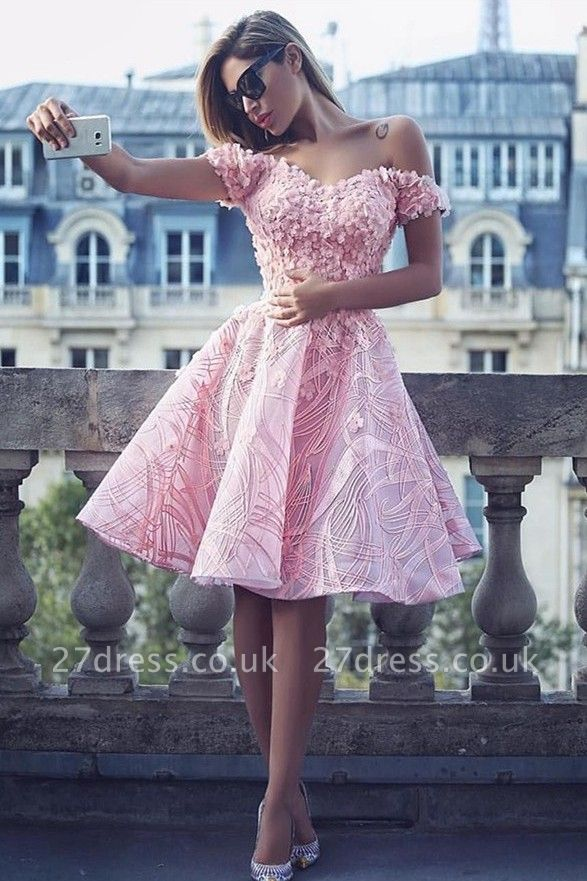 Lovely Off-the-Shoulder Homecoming Dress UK | Short Prom Dress UK Online