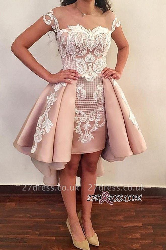 Lace ruffles short prom Dress UK, homecoming Dress UK online BA8007