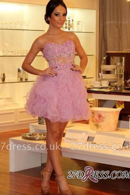 Luxury Sweetheart Short Prom Dress UKes UK | Homecoming Dress UK With Flowers
