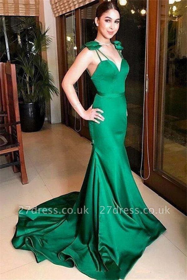 Gorgeous Mermaid Spaghetti Straps Prom Dress UK | Sweetheart Long Evening Dress
