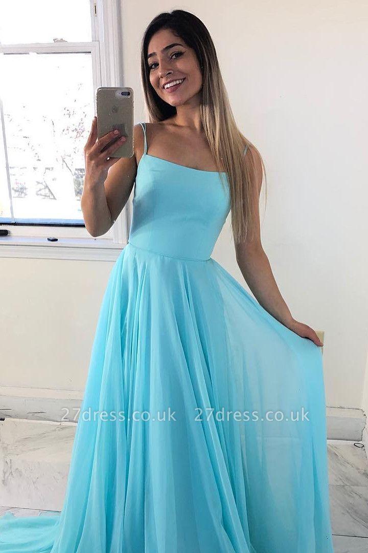 Sexy Spaghetti Straps Sleeveless Bridesmaid Dress | Chiffon Cheap Wedding Party Dress