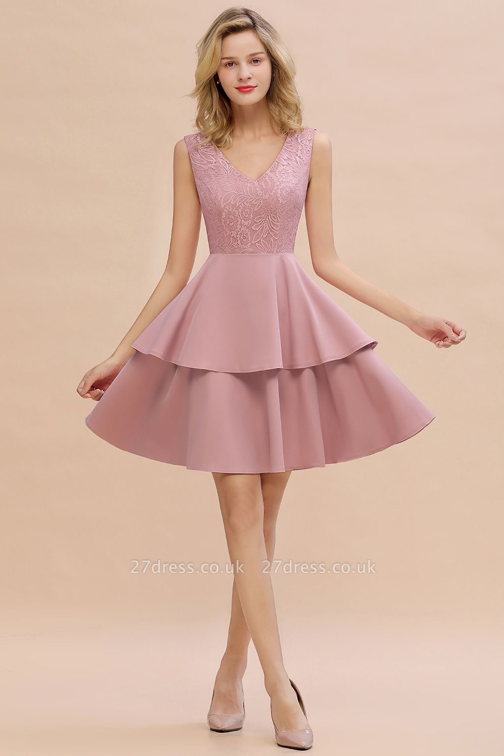 Cheap Homecoming Dresses with Ruffles Skirt | Sexy Short Evening Dresses UK
