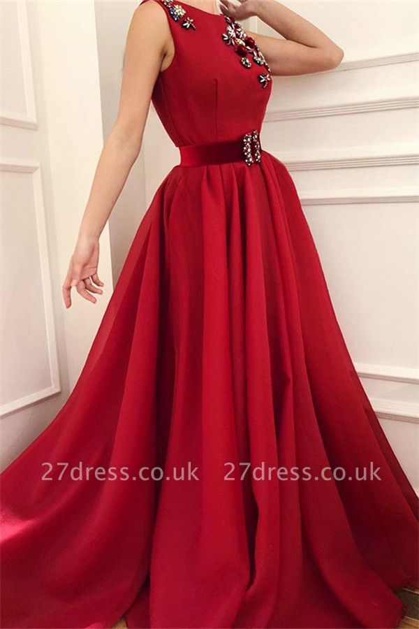 New Arrival Ruby Prom Dress Cheap Online| Stylish Sleeveless Elegant  Evening Dress UK with Sash