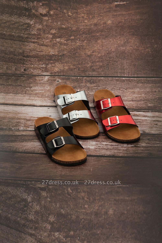 Unisex EVA Sandals Adjustable Double Buckle Flat Sandals for Women Men  Non-Slip